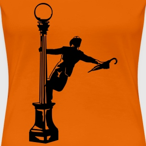 Singing in the rain illustratie T-shirts - Vrouwen Premium T-shirt