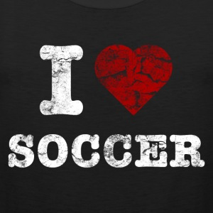 i_love_soccer_vintage_hell Tee shirts - Débardeur Premium Homme