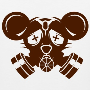 A gas mask with big mouse ears T-Shirts - Men's Premium Tank Top
