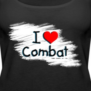 I Love Combat SprayCan Tops - Women's Premium Tank Top
