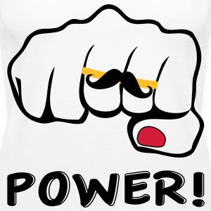 I love bigote power Tops - Camiseta de tirantes premium mujer
