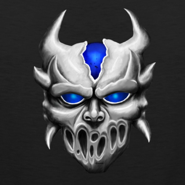 Demon with blue eyes Camisetas - Tank top premium hombre