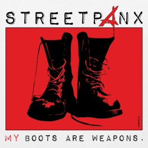 Streetpanx - My boots are weapons T-Shirts - Männer Premium Tank Top