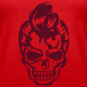 A skull with a rockabilly haircut Tops - Women's Premium Tank Top