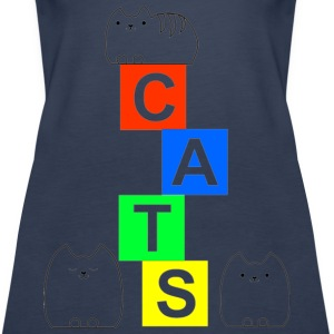 Cute cats and blocks Tops - Women's Premium Tank Top