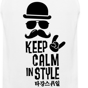 Like a keep calm in style bigote boss Camisetas - Tank top premium hombre
