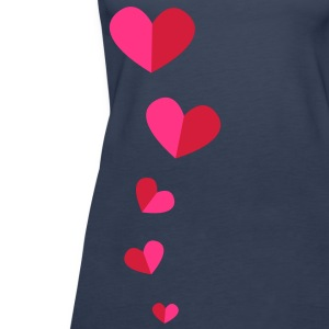 5 half hearts in a line down funky! Tops - Women's Premium Tank Top