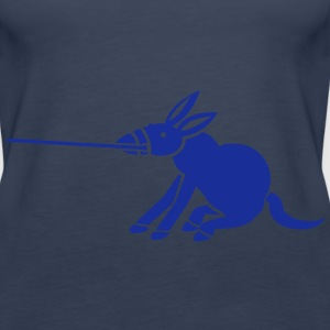a donkey dragging on a lead Tops - Women's Premium Tank Top