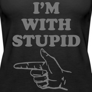 I'm with stupid Tops - Frauen Premium Tank Top