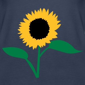 summer sunflower yellow with open leaves Tops - Women's Premium Tank Top