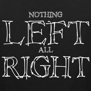 Left Right - White T-Shirts - Men's Premium Tank Top