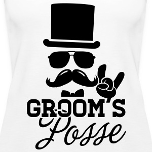 Groom Wedding Marriage Stag night bachelor party Tops - Women's Premium Tank Top
