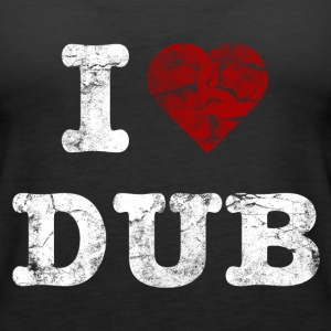 I Love DUB vintage light Topy - Tank top damski Premium