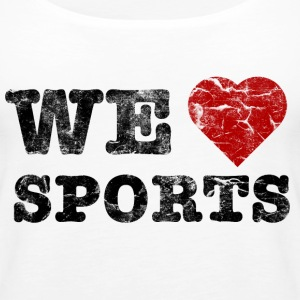we_love_sports_vintage Tops - Vrouwen Premium tank top