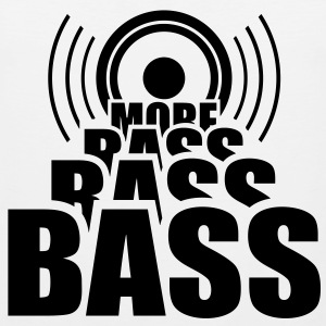 More BASS. Speaker Speaker Cab music T-shirts - Mannen Premium tank top