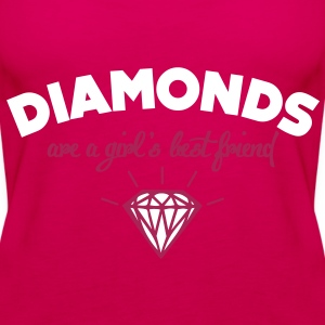 diamonds are a girl's best friend Tops - Women's Premium Tank Top