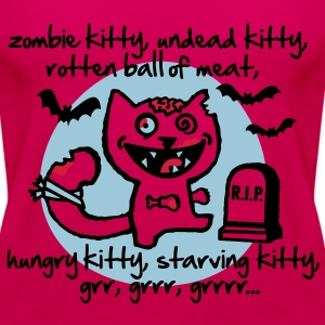 Zombie Kitty Topy - Tank top damski Premium
