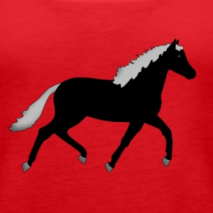 horse black Tops - Women's Premium Tank Top