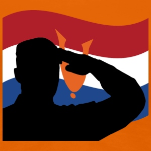 salute_dutch_veterans_flag T-shirts - Vrouwen Premium T-shirt