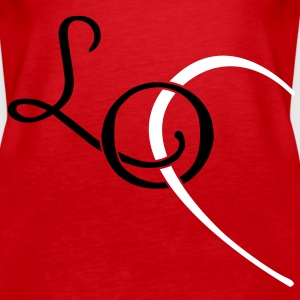 LO - LOVE couple shirt Tops - Women's Premium Tank Top