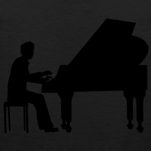 piano player T-Shirts - Men's Premium Tank Top