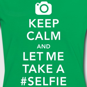 funny Keep calm take a selfie #selfie meme T-Shirts - Frauen Kontrast-T-Shirt
