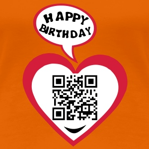 18 years big kisses code qr happy birthd Tee shirts - T-shirt Premium Femme