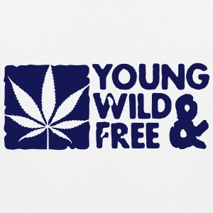 young wild and free weed leaf boxed Tee shirts - Débardeur Premium Homme