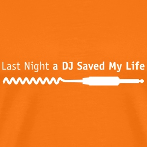 last_night_dj T-shirts - Mannen Premium T-shirt