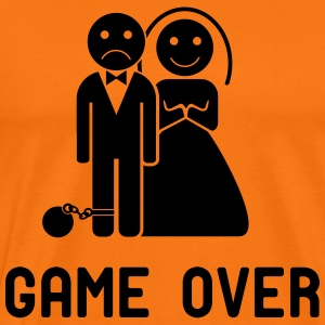 Vrijgezellenshirt Game over voor de heer in divers - Mannen Premium T-shirt