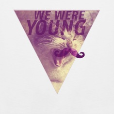 CAT+MOUSTACHE+WE WERE YOUNG+HIPSTER+TRIANGLE+EGYPT T-Shirts
