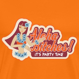 Orange Aloha Bitsches! T-Shirts - Men's Premium T-Shirt