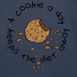 A cookie a day, keeps the diet away Topper - Premium singlet for kvinner