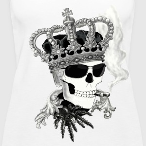 Skull with glasses Tops - Women's Premium Tank Top