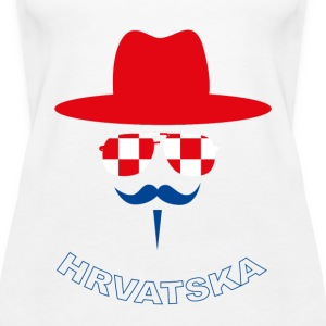 Croatia Fan with mustache Topy - Tank top damski Premium