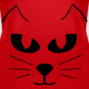 Cat Face Tops - Women's Premium Tank Top