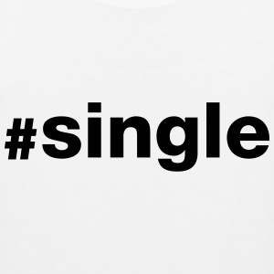 Hashtag Single T-skjorter - Premium singlet for menn