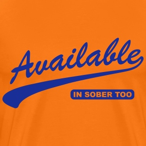 Available In Sober Too T-Shirts - Men's Premium T-Shirt