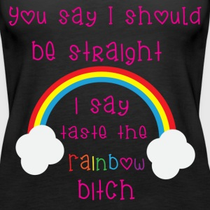 Rainbow Bitch Tops - Vrouwen Premium tank top