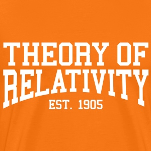 Theory of Relativity - Est. 1905 (Over-Under) T-Shirts - Men's Premium T-Shirt