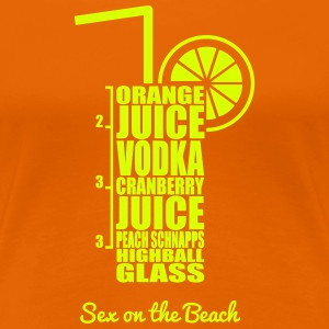 Cocktails - bunt und lecker: Sex on the Beach T-shirts - Premium-T-shirt dam