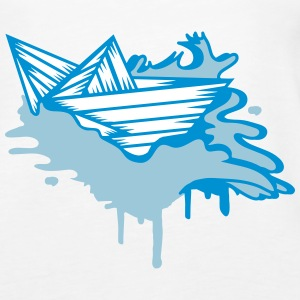 A paper boat on the ocean Tops - Women's Premium Tank Top