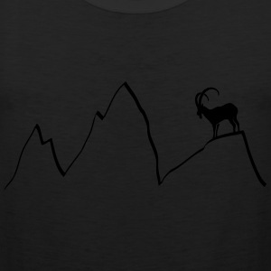 ibex capricorn mountains alps climbing goat sheep  T-Shirts - Men's Premium Tank Top