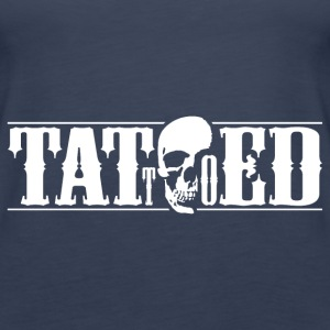 tattooed tattoo totenkopf Tops - Frauen Premium Tank Top