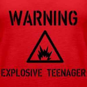 Warning Topy - Tank top damski Premium
