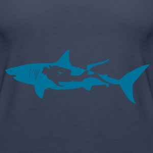 scuba diving diver shark jaws whale dolphin Tops - Women's Premium Tank Top