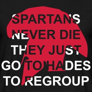 spartans never die T-shirts - Mannen T-shirt