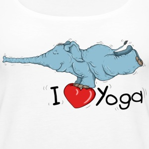 Elephant loves the Yoga Peacock Tops - Women's Premium Tank Top
