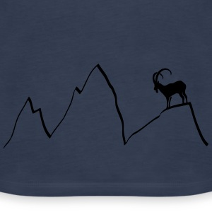 ibex capricorn mountains alps climbing goat sheep  Tops - Women's Premium Tank Top