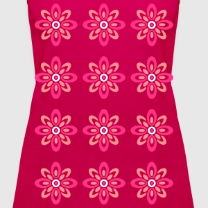 Retro Flower Topper - Premium singlet for kvinner